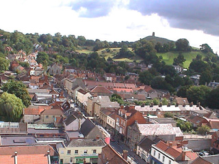 Glastonbury Tor viewed from the tower