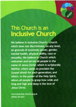St John's is part of the Inclusive Church network